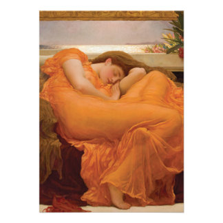 Flaming June by Frederic Leighton Personalized Announcement