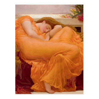 Flaming June Vintage Postcard