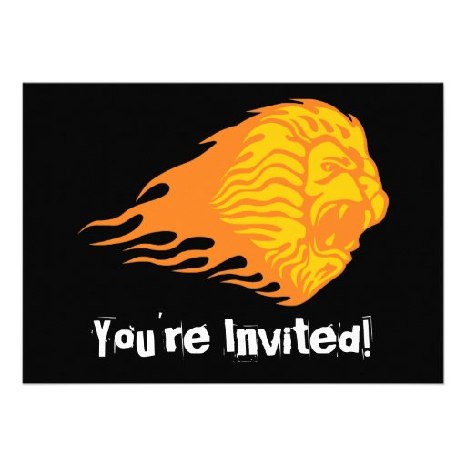 Flaming Lion #1 Personalized Invitation