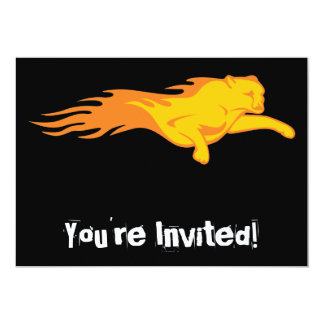 Flaming Lion #2 5x7 Paper Invitation Card