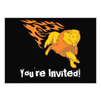 Flaming Lion #5 Personalized Announcement