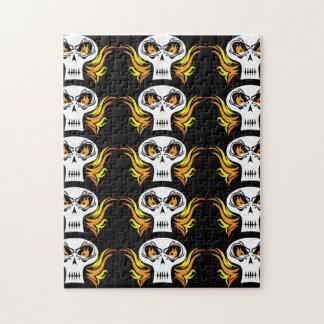 Flaming Skull Jigsaw Puzzle