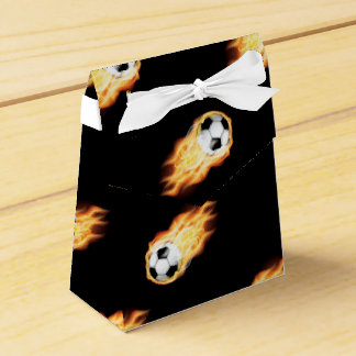 Flaming Soccer Ball Pattern, Fire Balls Party Favour Box