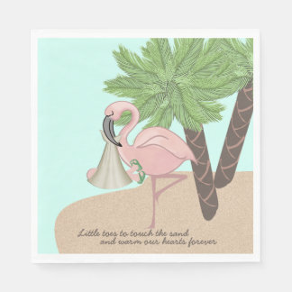 Flamingo Baby Shower Disposable Napkins