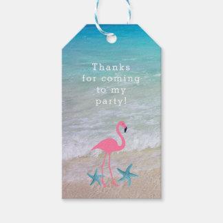 Flamingo Beach Party Custom Favour Tags