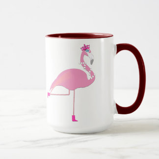 Flamingo Black 15 oz Ringer Mug