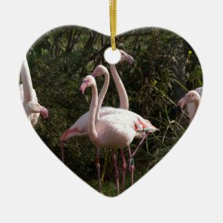 Flamingo Flock Christmas Ornament