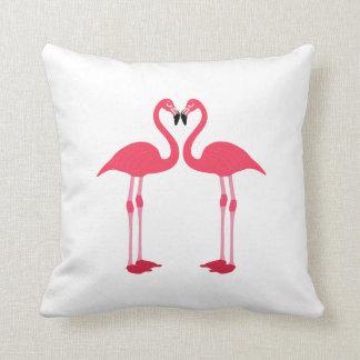 Flamingos cartoon throw cushion