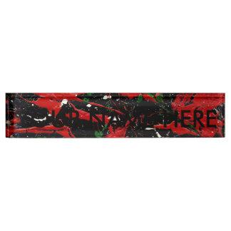FLASH FIRE (an abstract art design) ~ Nameplate