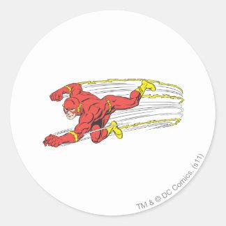 Flash Lunges Left Round Sticker