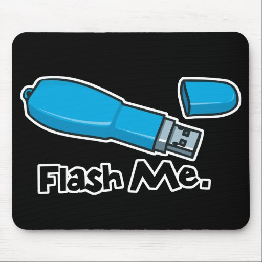 flash me flash drive design mouse pad