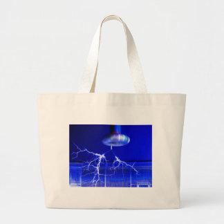 Flash Tesla Coil... Large Tote Bag