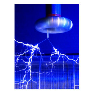 Flash Tesla Coil... Postcard