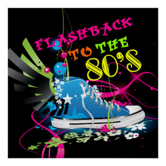 Flashback To The 80 s Neon Sneaker Poster