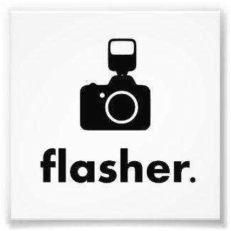Flasher Photographer Camera Photographic Print