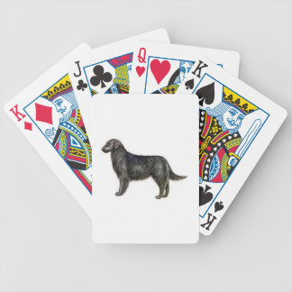 Flat Coated Retriever Dog Playing Cards