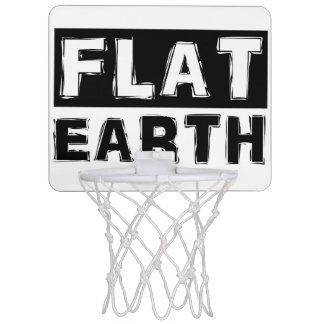 FLAT EARTH mini-basketball hoop