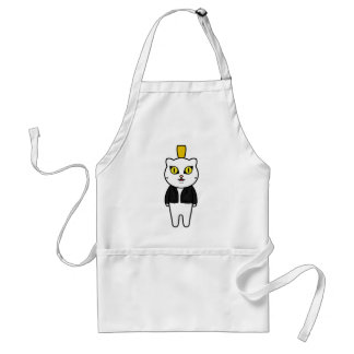 Flat tire cat punk cat standard apron