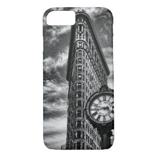 Flatiron Building and Clock in Black and White 1C2 iPhone 8/7 Case