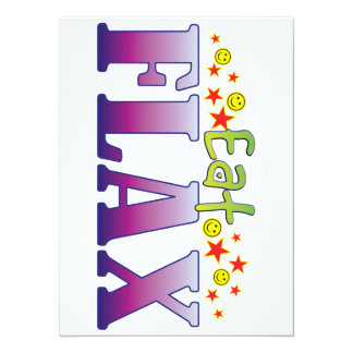 Flax Eat 14 Cm X 19 Cm Invitation Card