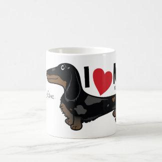 "FLDR ""I Love My"" LH Dapple Doxie Character Mug. Coffee Mug"