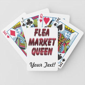 Flea Market Queen Red Poker Cards
