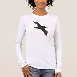 Flesh-footed Shearwater (flying) Long Sleeve T-Shirt