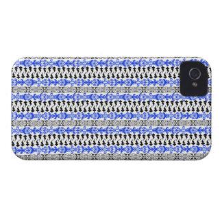 Fleur Custom 1 Blue Case-Mate iPhone 4 Case