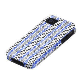 Fleur Custom 1 Blue Case-Mate iPhone 4 Covers