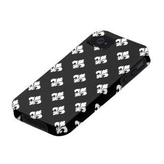 Fleur De Lis 1 Black and White Vibe iPhone 4 Cases