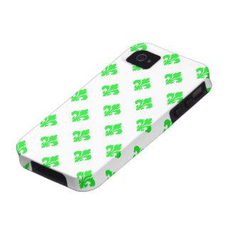 Fleur De Lis 1 Green iPhone 4 Case