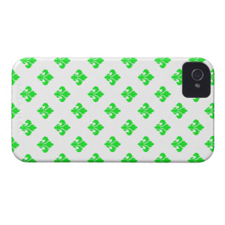 Fleur De Lis 1 Green iPhone 4 Cases