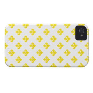Fleur De Lis 1 Yellow iPhone 4 Cases