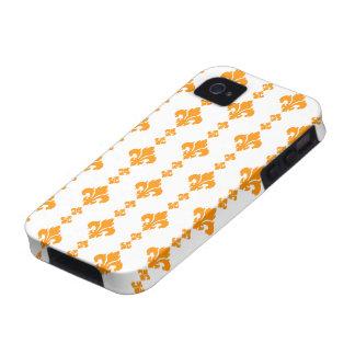 Fleur De Lis 3 Orange Vibe iPhone 4 Covers