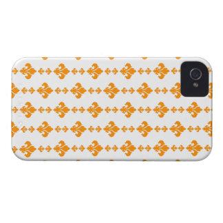 Fleur De Lis 3 Orange iPhone 4 Case-Mate Case