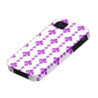 Fleur De Lis 3 Purple Case-Mate iPhone 4 Case