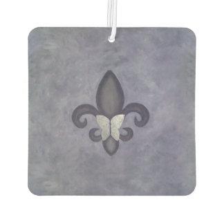 Fleur-de-Lis Auto | Butterfly Heather Muted Purple Car Air Freshener