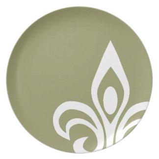 Fleur de Lis Design Plate