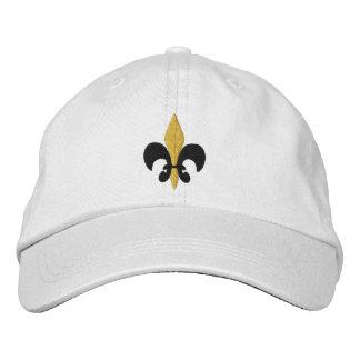 Fleur de lis embroidered baseball cap