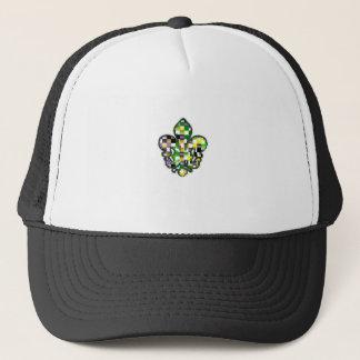 Fleur De Lis Flor  New Orleans Mardi Gras Trucker Hat