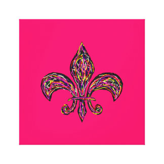 "Fleur de Lis Highway ~CHANGE COLOR 24x24/2.5""Thick Canvas Print"