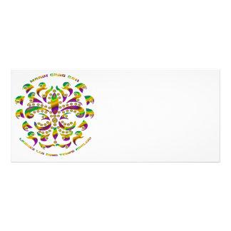 fleur de lis Mardi-Gras 2011 V-2 Custom Rack Card