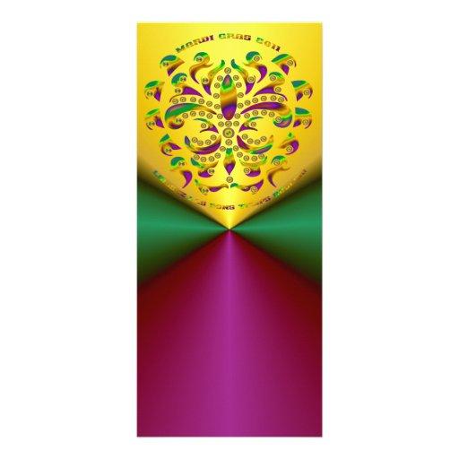 Fleur de lis Mardi Gras 2011 V-2 Rack Card Template