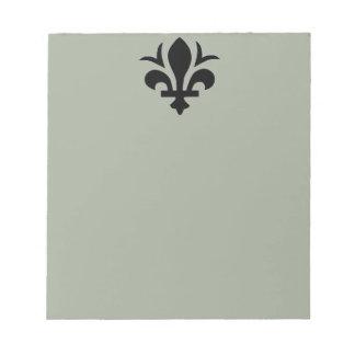 Fleur-de-Lis on Note Pad