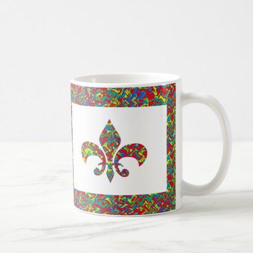 Fleur de Lis - on NOVINO Artistic Jewel Patterns Coffee Mug