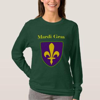Fleur De Lis Shield Mardi Gras T-Shirt