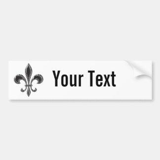 Fleur De Lis - Stripey Bumper Sticker