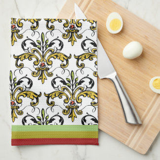 Fleur de lis Xmas gifts Tea Towel
