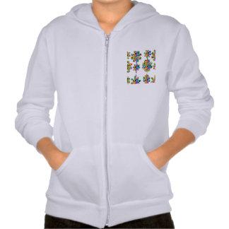 fleur mignonne modèle unique cute flower pattern hooded sweatshirts
