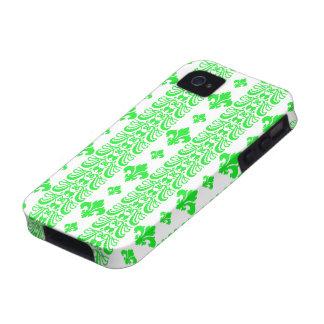 Fleur Stripe 1 Green Case-Mate iPhone 4 Cases